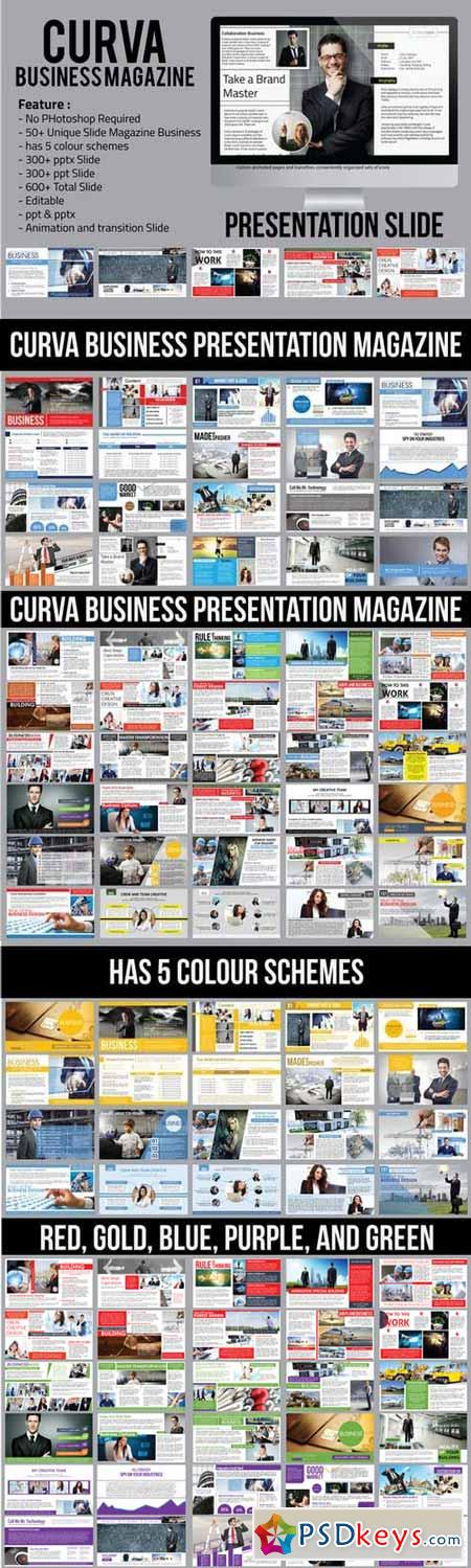 Curva Business Magazine Presentation 404278