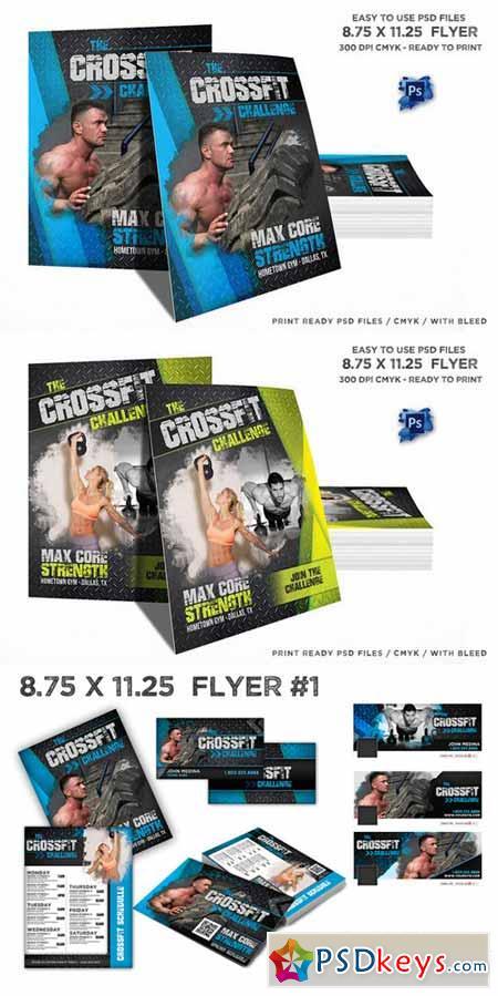 Crossfit Schedule Flyer Bundle Set 406049