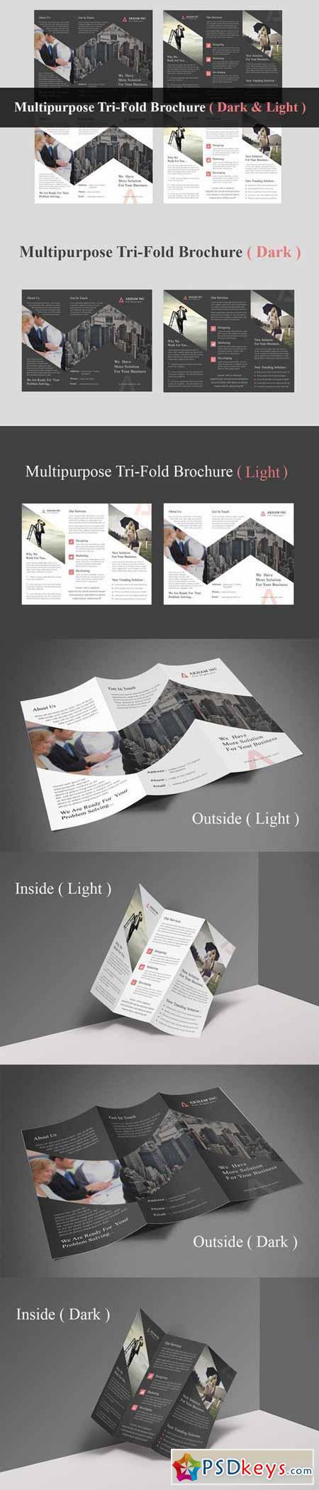 Multipurpose Tri-Fold Brochure 406449