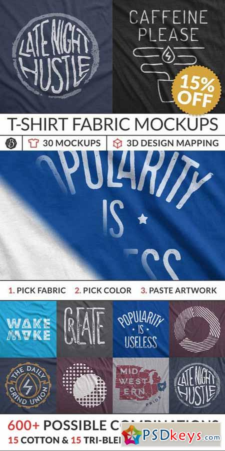 Instant T-Shirt Fabric Mockups 404503