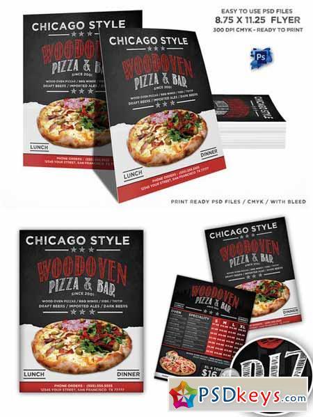 Wood Oven Pizza Menu Flyer 406042