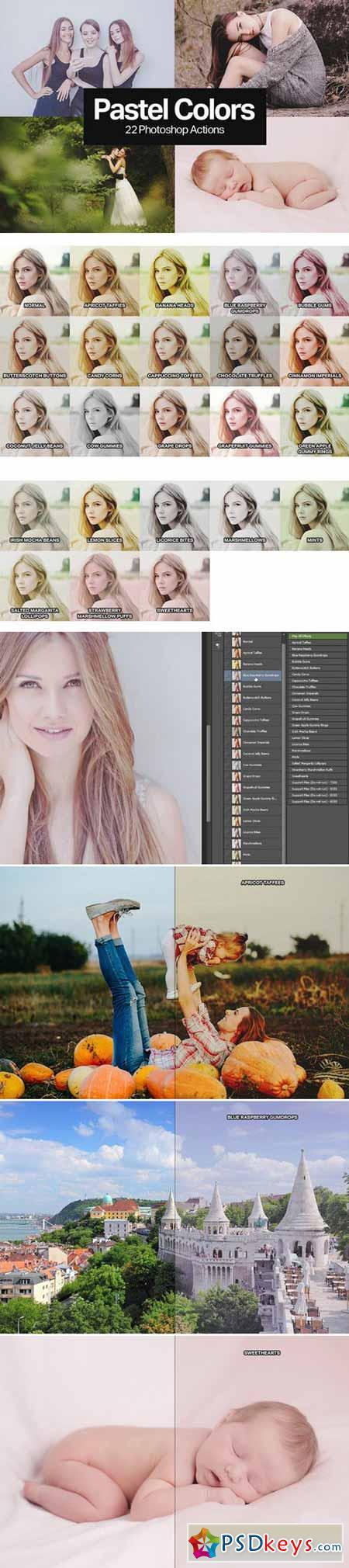 22 Soft Pastel Photoshop Actions 403156