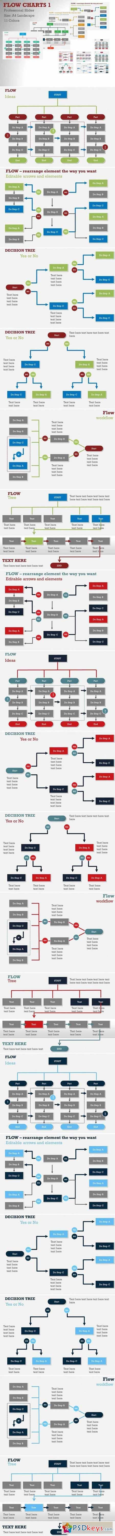 Flow Charts 1 PowerPoint Template 406958