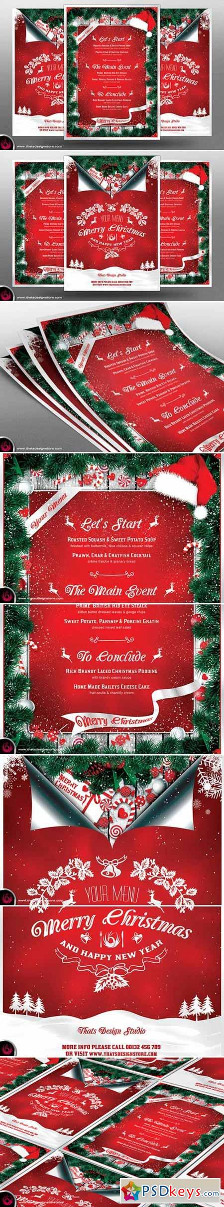 Christmas Menu Template V6 406444