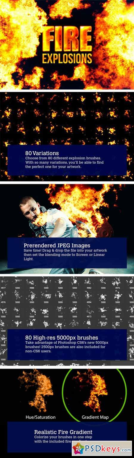 80 Photorealistic Fire Explosions 3323