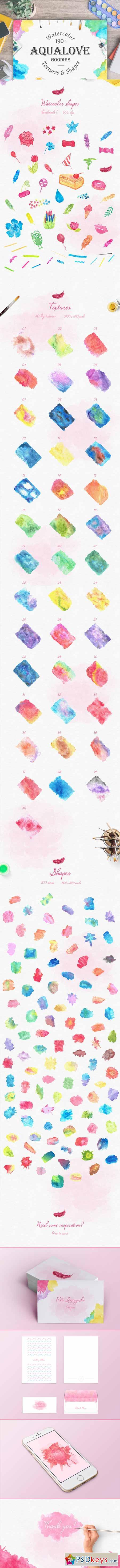 Aqualove - Watercolor Goodies 323654