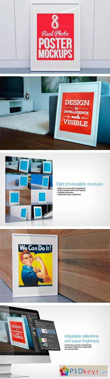 8 Real Photo Poster Mockups 24174