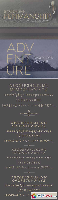 Penmanship Sans Serif Display Fonts 407114