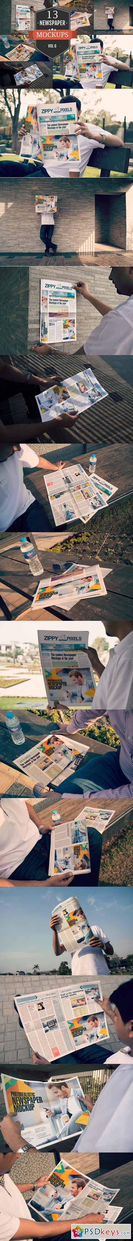 Outdoor Newspaper Ad Mockups Vol. 6 369333