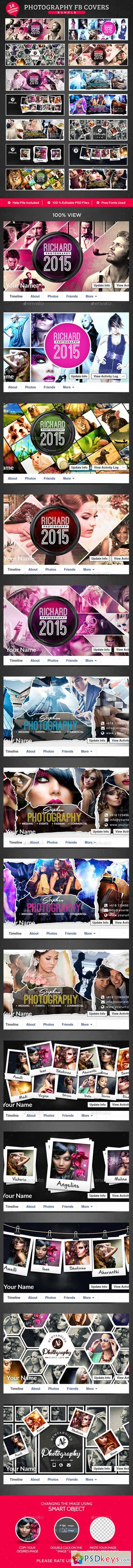 Photography Facebook Cover Bundle 14 Designs 13139472