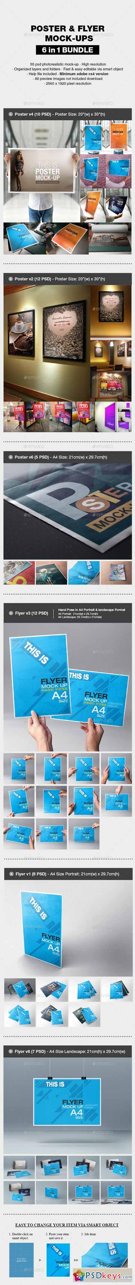 Poster flyer mock up bundle 13321127 free download photoshop poster flyer mock up bundle 13321127 reheart Image collections