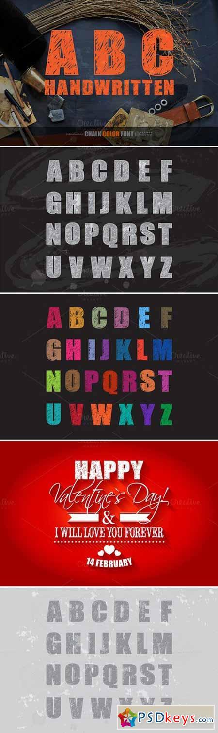 ABC HANDWRITTEN! Chalk font. 410179