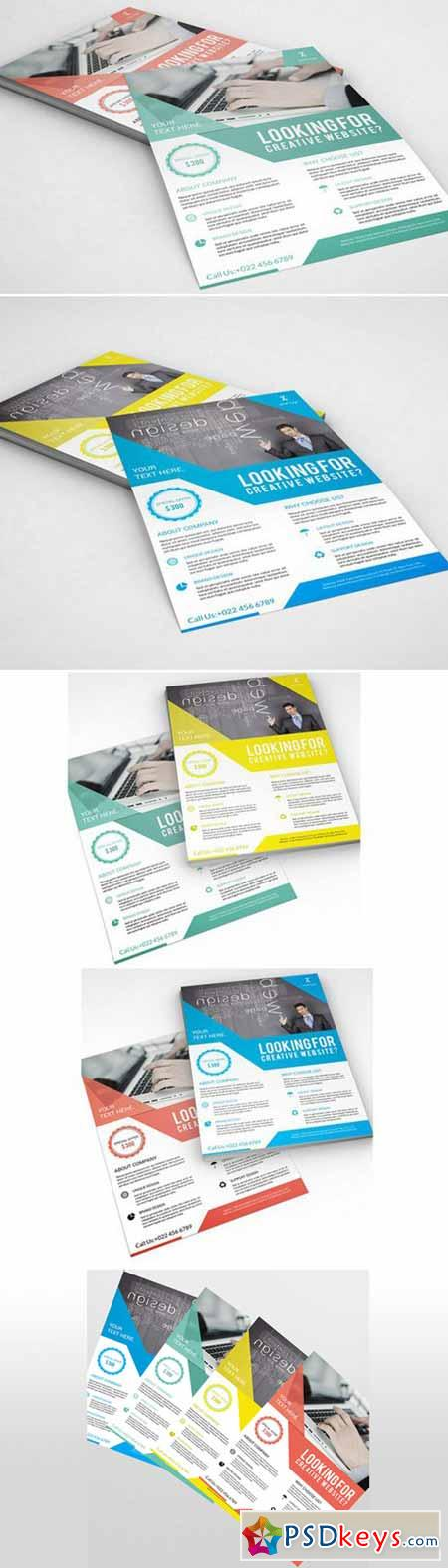 InDesign Corporate Flyer 4 Color V99 405362