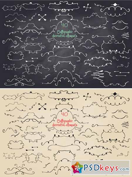 40 Calligraphic decorative elements 409422