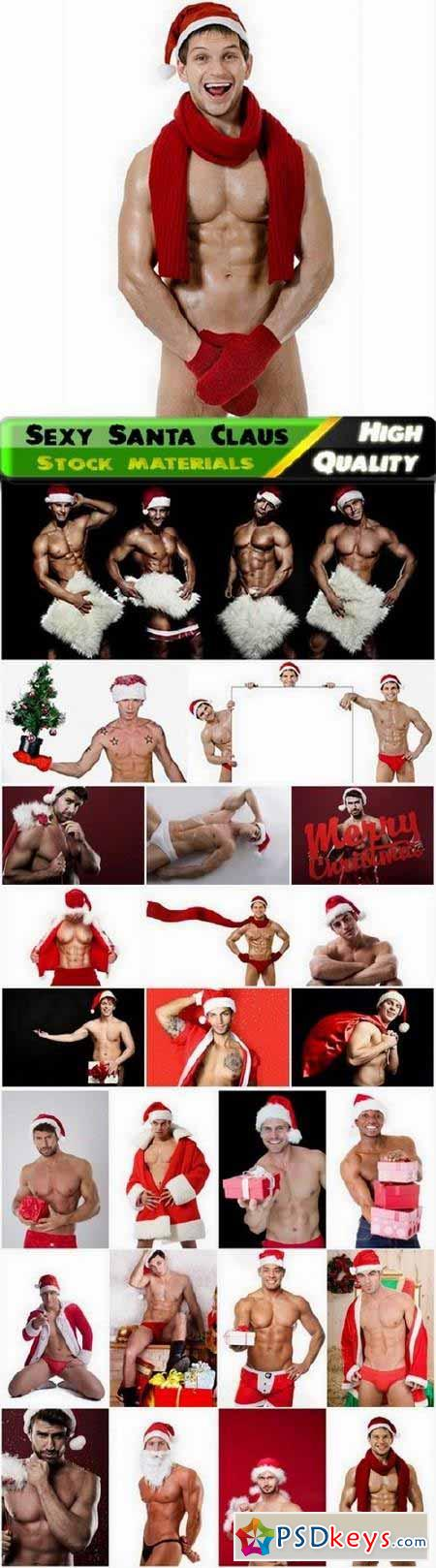 Sexy Santa Claus with presents - 25 HQ Jpg