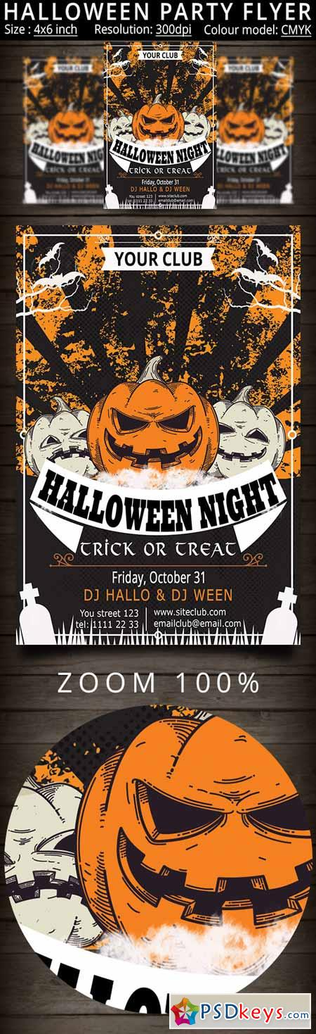 Halloween Party Flyer 410417