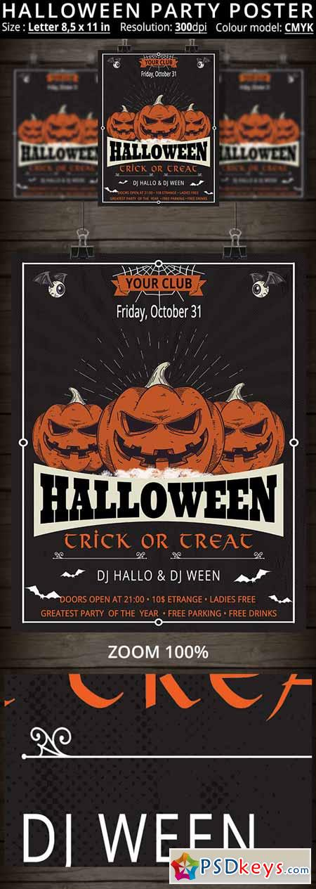 Halloween Party Poster 410353
