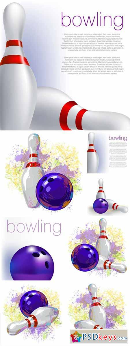 Bowling, vector backgrounds