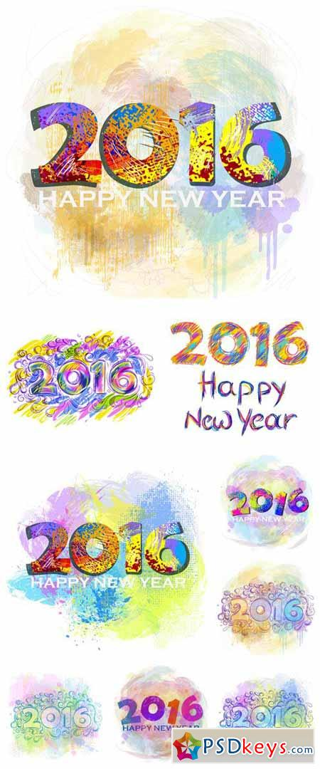 2016 Christmas and New Year vector