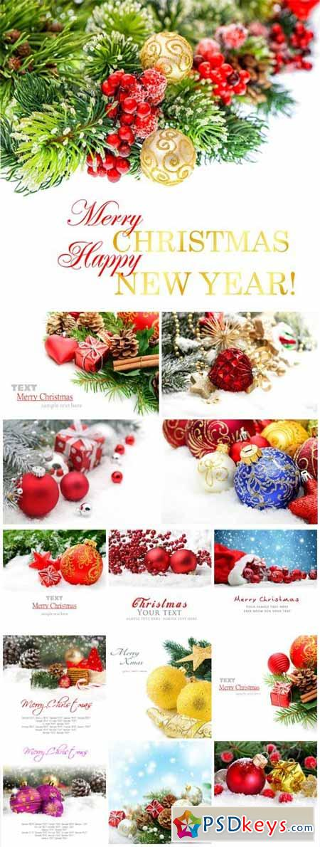 Christmas and New Year, winter stock photo