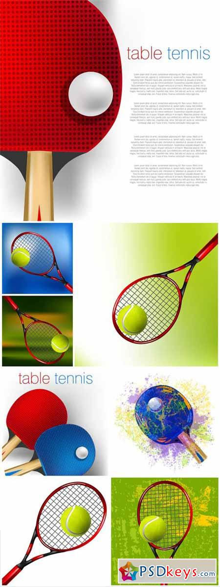 Tennis rackets and balls, sport