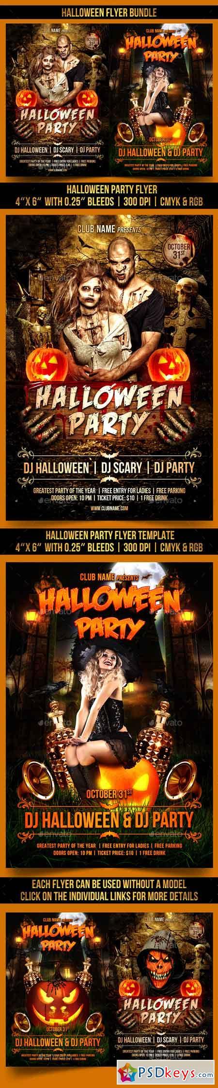 Halloween Flyer Bundle 13036572