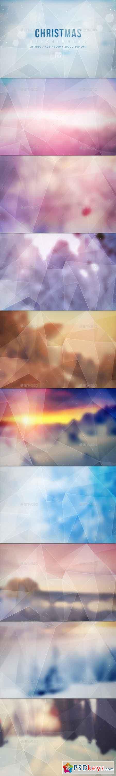 26 Polygon Christmas Backgrounds 13022207