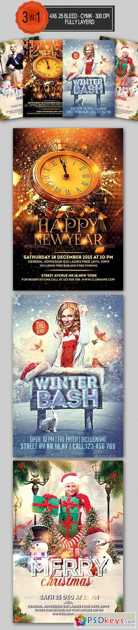holiday flyer bundle photoshop vector holiday flyer bundle 13271268