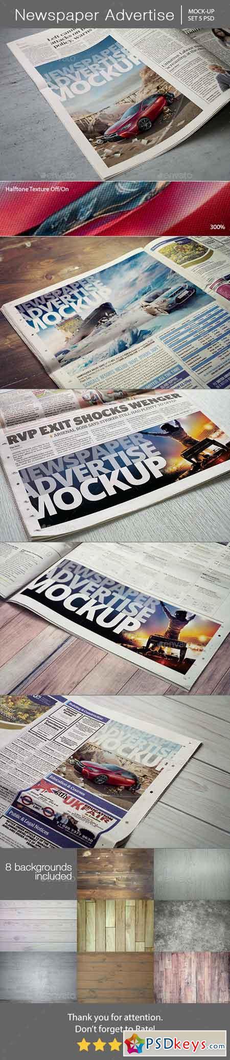 Newspaper Advertise Mockup 13345143
