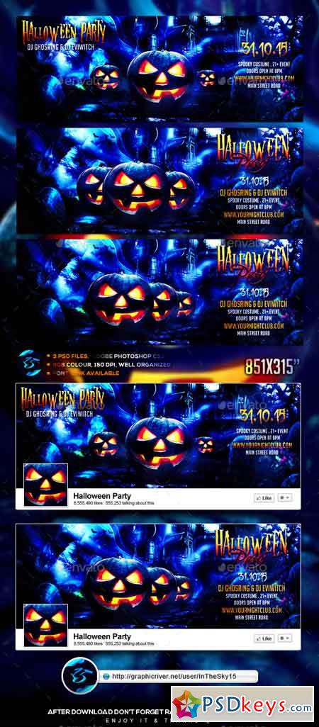 Halloween Party FB Timeline Cover 13336911