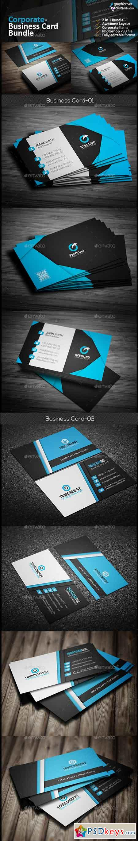 Business Card Bundle 2 in 1 13344214 » Free Download Photoshop ...