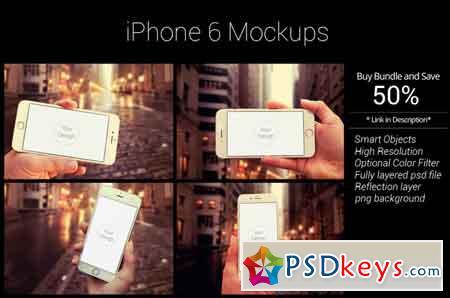 iPhone 6 Mockup Bundle 411799