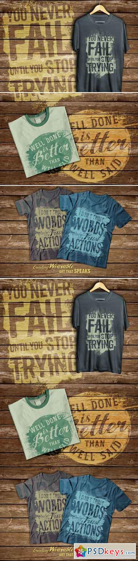 Quotes T-shirt Design 411842