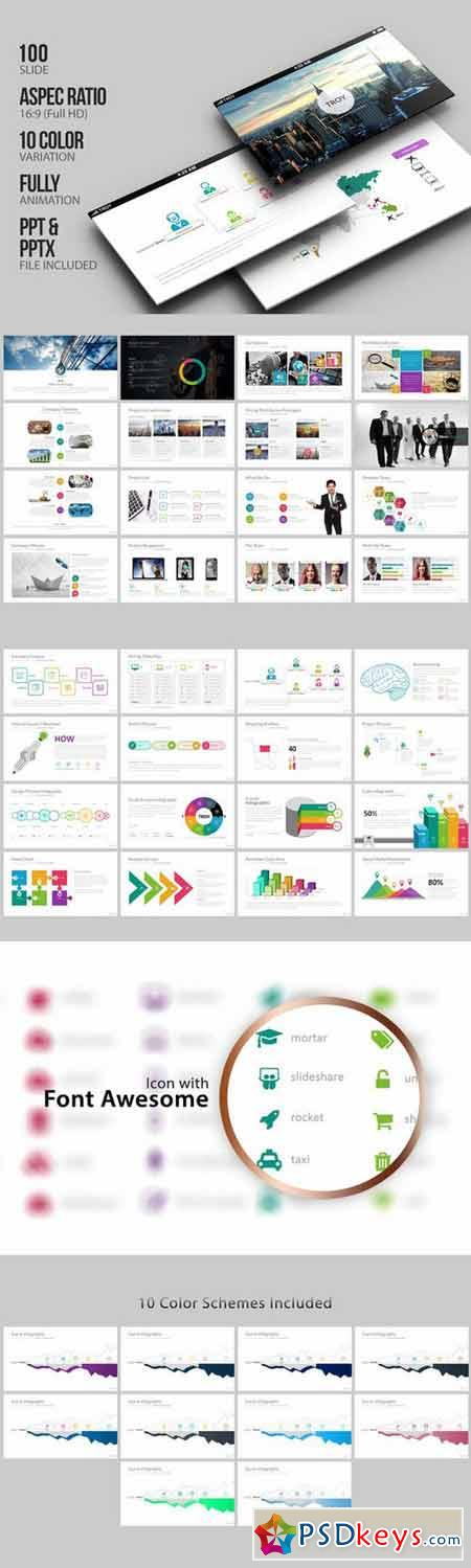 Troy - Business Powerpoint 400662