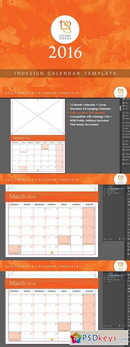 2016 Calendar Template 400642