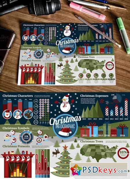 Set of Christmas Infographics 410461