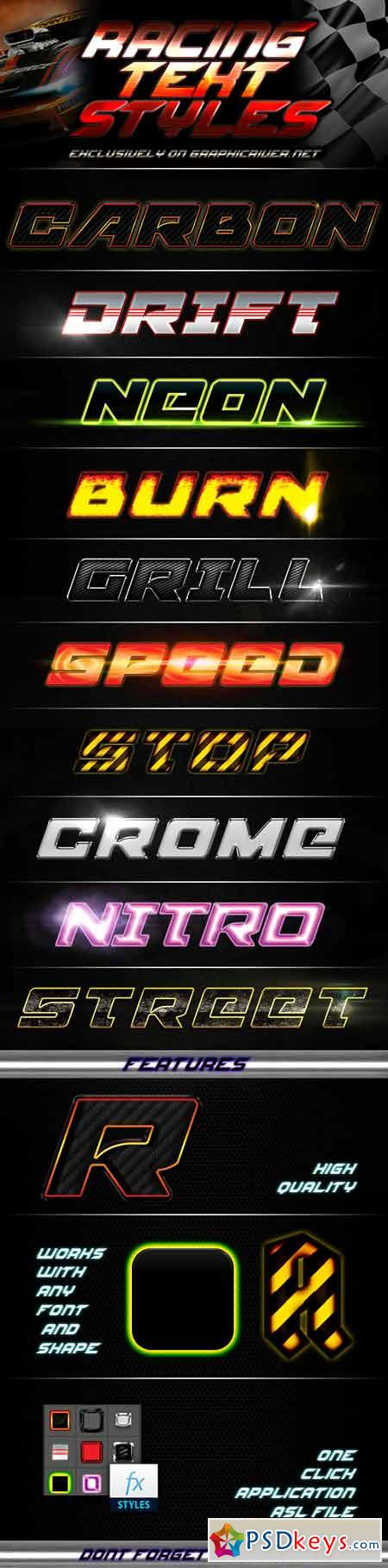 Racing Text Styles 13325819