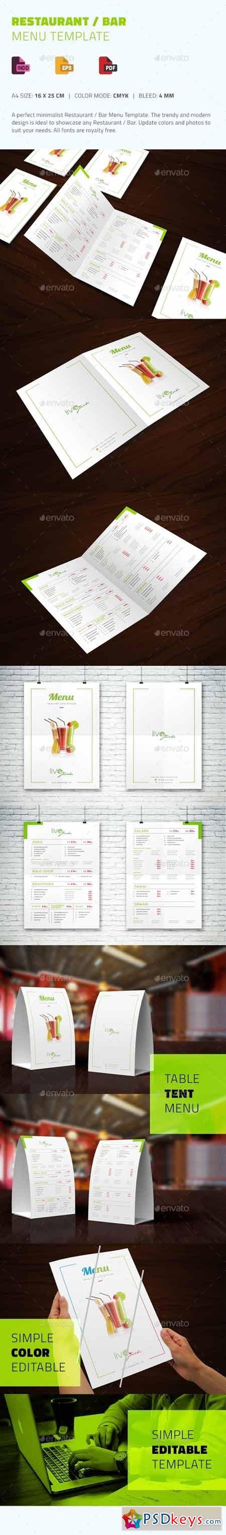 Restaurant Bar Menu Template 13341922
