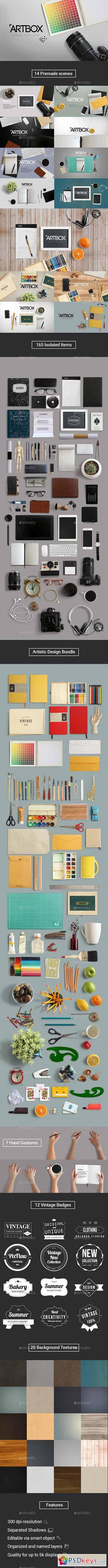 ArtBox - Artistic Mockup Kit 12147534
