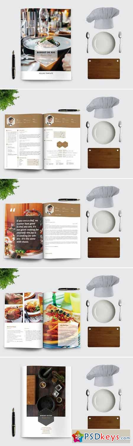 Chef resume cv portfolio 403099 free download for Chef portfolio template