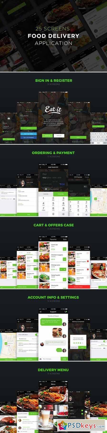 Food delivery app UI 414158