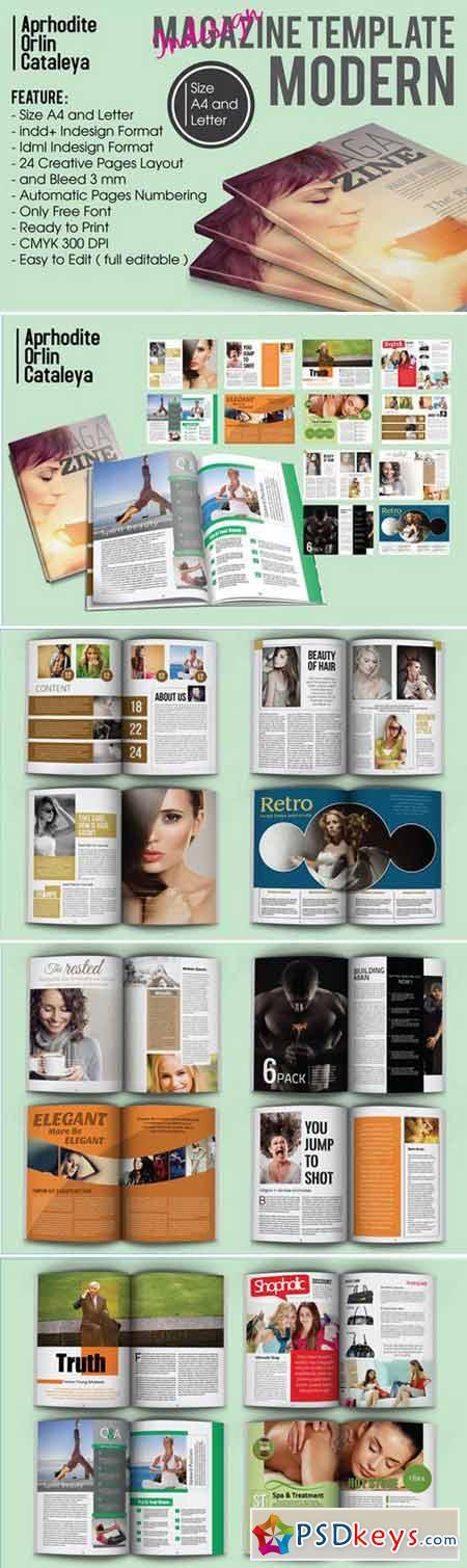 Magazine Template Modern 412146