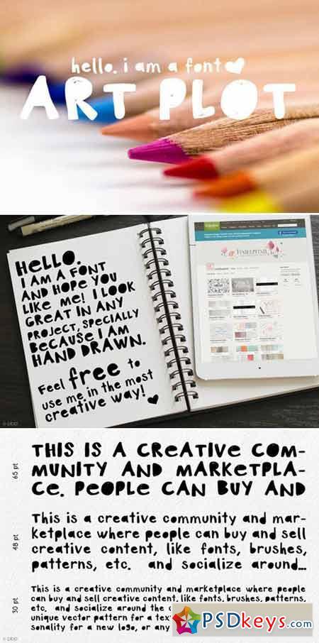NEW Art Plot - Hand Drawn Font 414385