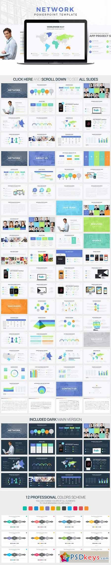 Network powerpoint template 48 best business powerpoint templates network powerpoint template 412041 free download photoshop toneelgroepblik Gallery