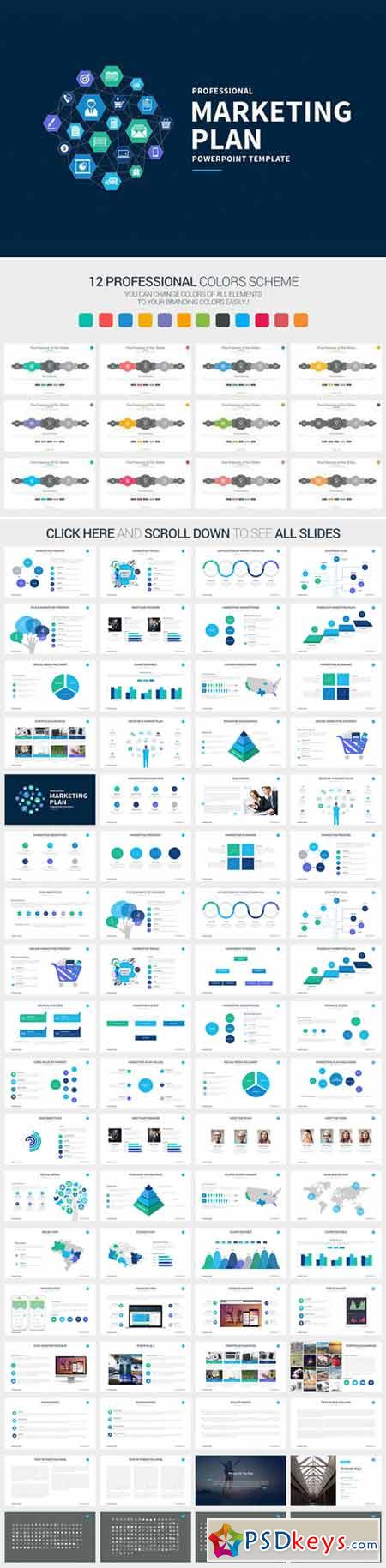 marketing plan powerpoint template 411609 » free download, Modern powerpoint