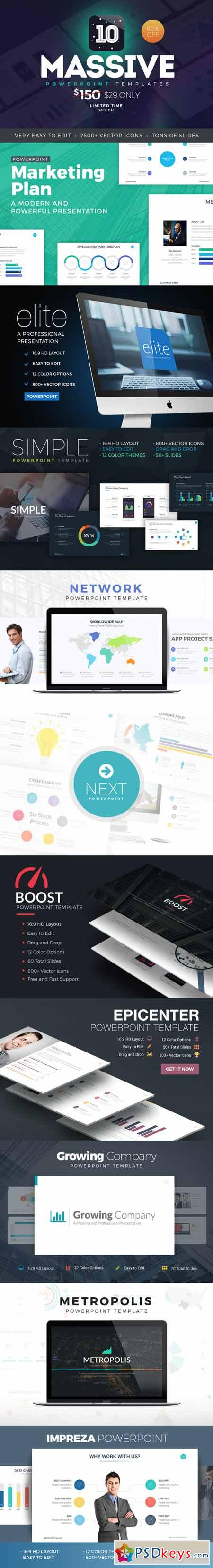 Massive PowerPoint Template Bundle 412060