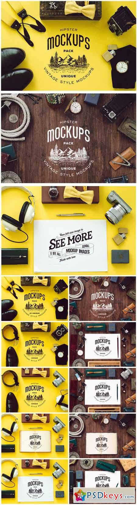 Hipster Mockups Pack 413375