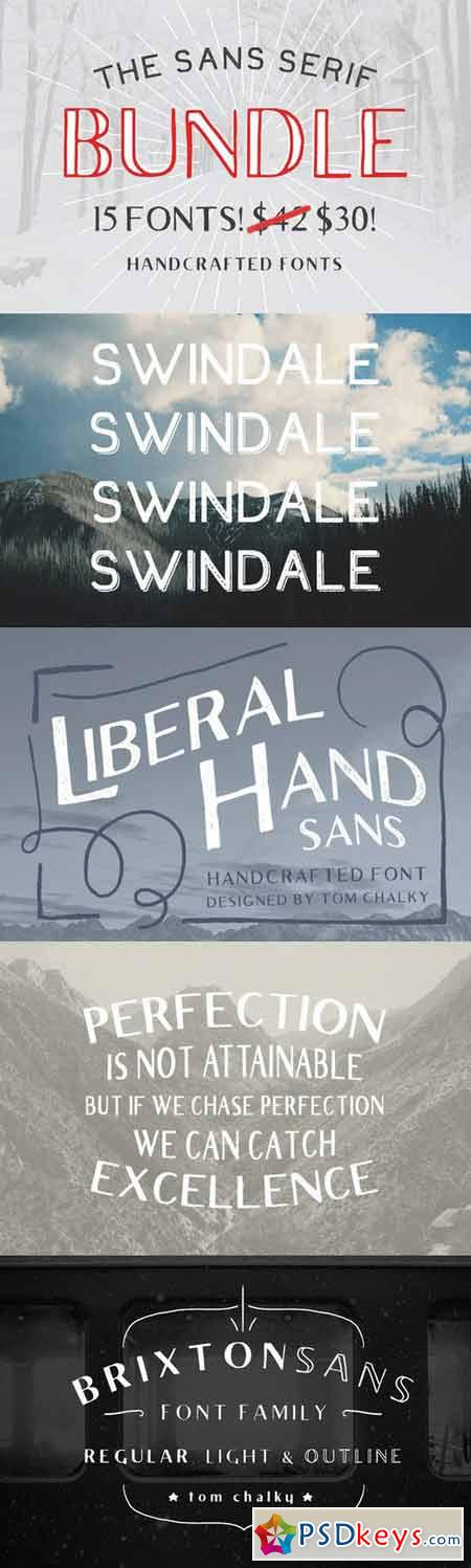 The Sans Serif Bundle - 15 Fonts! 136743