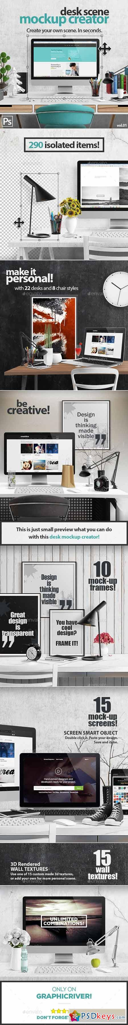 Desk Scene Mock-Up Creator 12948098