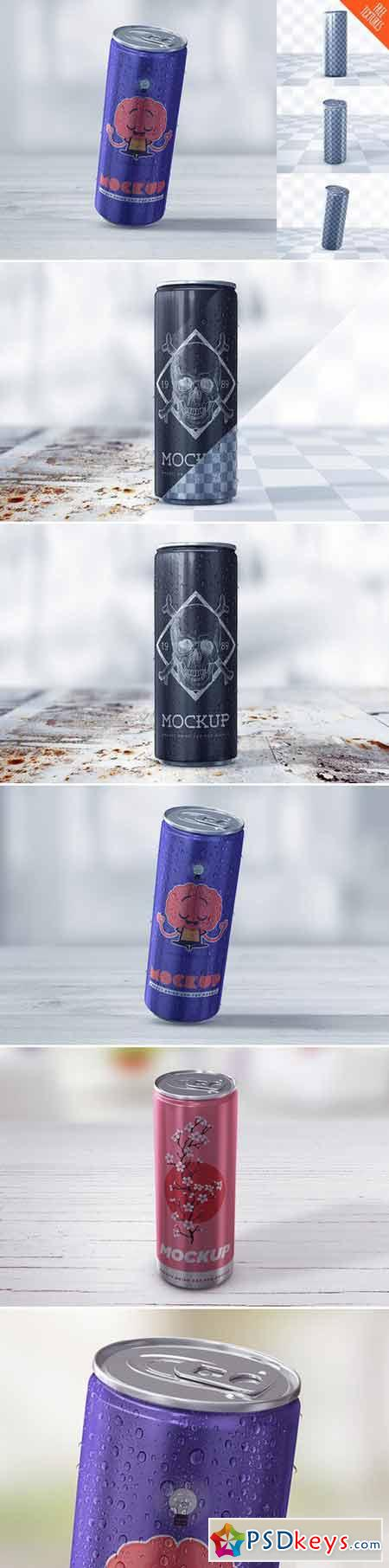 Energy Drink Can Mockup 415607